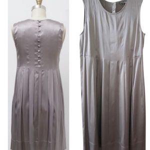 Vince silk grey plated dress size 4